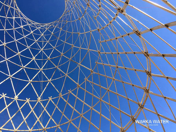Warka Water is an experimental project designed to offer an alternative water source for rural communities facing challenges in accessing drinkable water.
