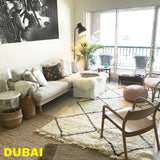 BESTSELLER - Beni Ourain Carpet - 300x200cm (9'8x6'5) - Large Triangles - Asilah - Natural Wool - Carpets - THE PEOPLE OF SAND
