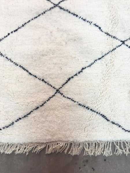 Beni Ourain Carpet - 310x205cm - CHAABANE - Natural Wool - AB14