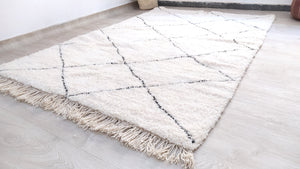 Load image into Gallery viewer, Beni Ourain Carpet - 254x170cm - 3-Seat Sofa - Natural Wool - AUG25