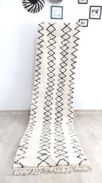Beni Ourain Carpet - 310x80cm - Corridor - Natural Wool - SEP10