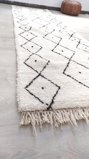 Load image into Gallery viewer, Beni Ourain Carpet - 320x95cm - Corridor - Natural Wool - SEP13