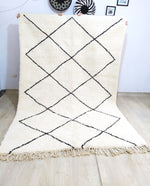 Beni Ourain Carpet - 310x202cm - 3-Seat Sofa - Natural Wool - YFBB19
