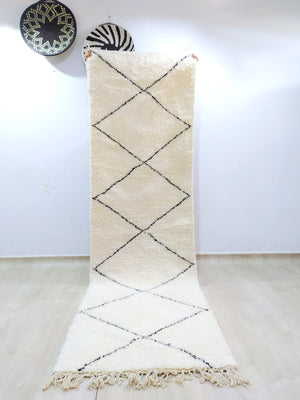 Load image into Gallery viewer, Beni Ourain Carpet - 300x88cm - Hallway - Natural Wool - HYMARS20