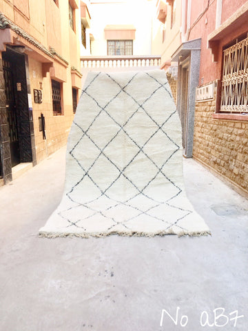 Beni Ourain Carpet - 325x195cm - DADES - Natural Wool - AB7