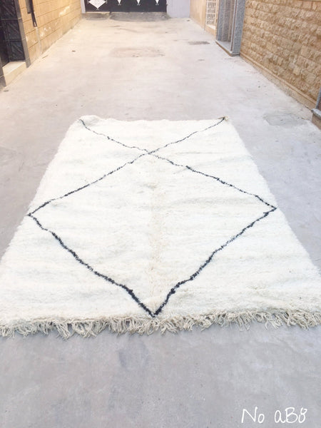 SUPER SALE 🤩 Beni Ourain Carpet - 280x172cm - LOUKKOS - Natural Wool - AB8