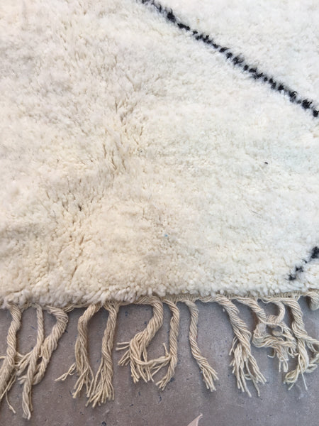 Beni Ourain Carpet - 310x200cm - RIODEORO - Natural Wool - AB11