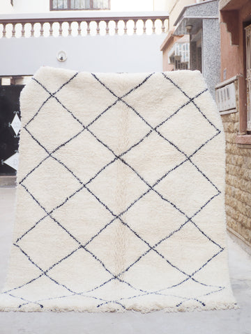 Beni Ourain Carpet - 260x180cm - Melilla - Natural Wool - Y01