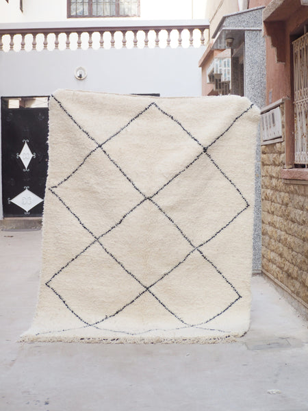 Beni Ourain Carpet - 240x170cm - Fez - Natural Wool - Y02