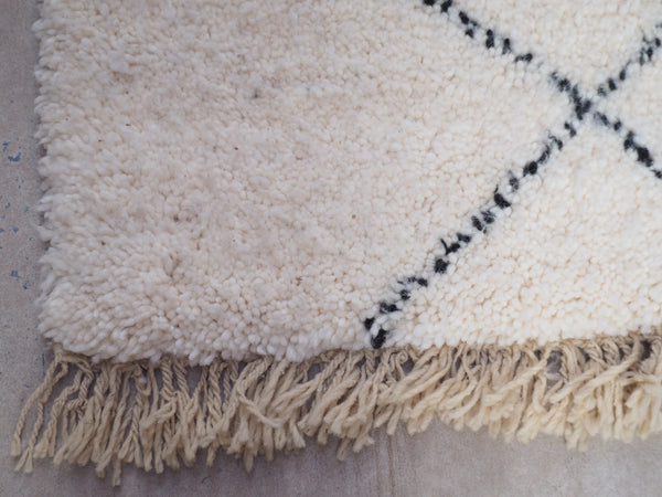 Beni Ourain Carpet - 240x170cm - Fez - Natural Wool - Y02 - Carpets - THE PEOPLE OF SAND