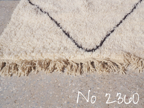 Quick Delivery - Beni Ourain Tribal Carpet - 270 x 190 cm - Kenitra - Natural Wool - 2360