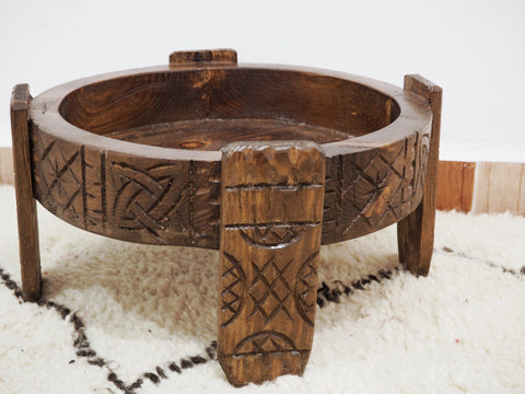 Wooden Hand Carved Chakki Table 61cm