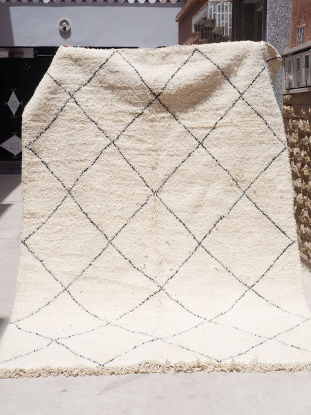 Beni Ourain Carpet - 284x188cm - Diamonds - MUSA - Natural Wool - 1630