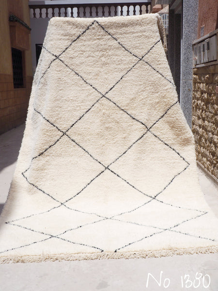Beni Ourain Carpet - 330x205cm - Diamonds - MUNA - Natural Wool - 1380
