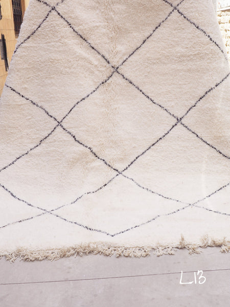 Beni Ourain Carpet - 294x210cm - Diamonds - TIZWA - Natural Wool - L13