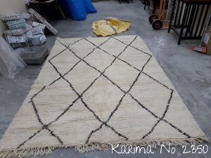 Beni Ourain Tribal Carpet - 300x 200 cm - Karima - Natural Wool - 2350 - Carpets - THE PEOPLE OF SAND