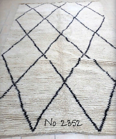 In stock - Beni Ourain Tribal Carpet - 290 x 200 cm - Aya - Natural Wool - 2352