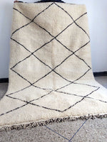 Beni Ourain Carpet - 300x195cm - 3-Seat Sofa - LOV - Natural Wool - RB03