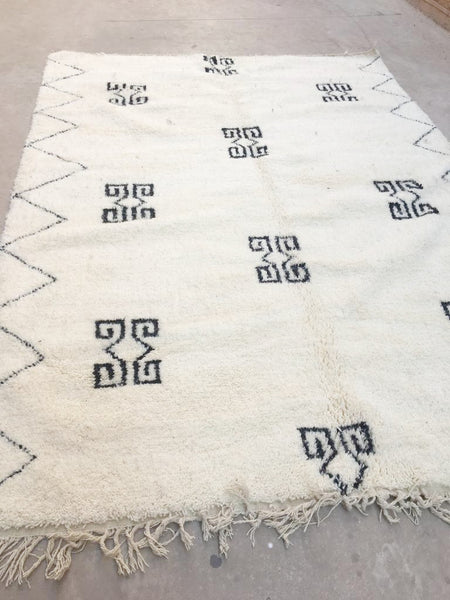 Beni Ourain Carpet - 325x225cm - Hanna - Natural Wool - T04