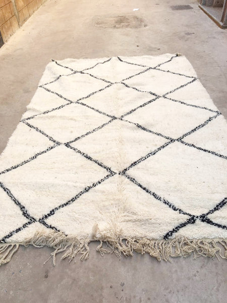 Beni Ourain Carpet - 300x196cm - Karima - Natural Wool - T21 - Carpets - THE PEOPLE OF SAND
