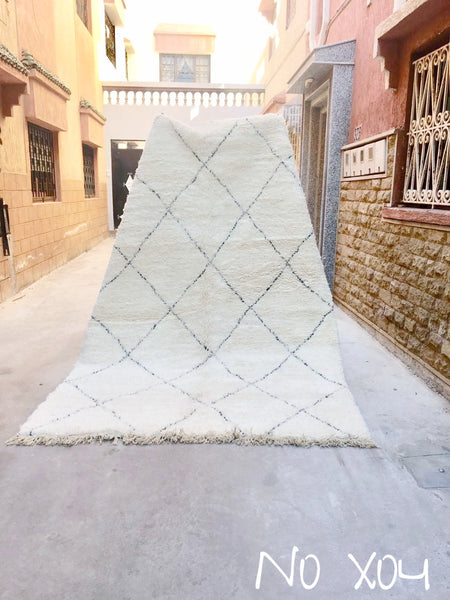 Beni Ourain Carpet - 310x200cm - Nahla - Natural Wool - X04 - Carpets - THE PEOPLE OF SAND
