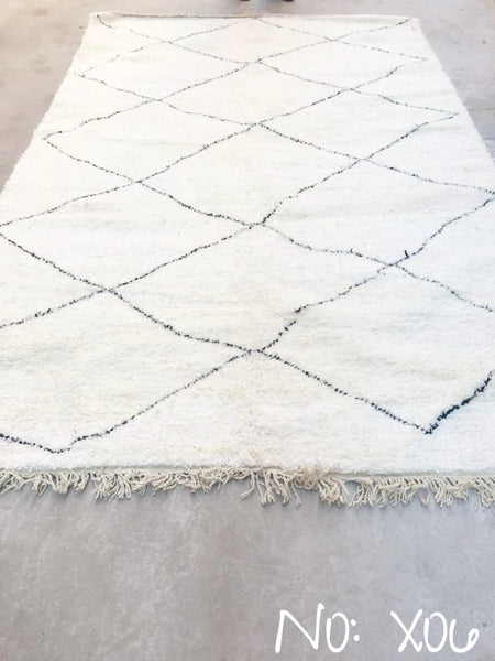 Beni Ourain Carpet - 325x204cm - Umaima - Natural Wool - X06
