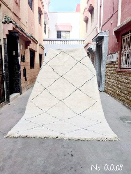 Beni Ourain Carpet - 320x210cm -JASMIN - Natural Wool - AA08 - Carpets - THE PEOPLE OF SAND