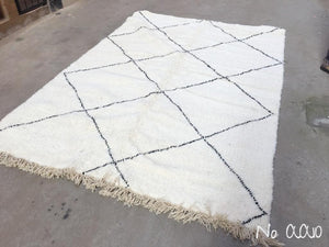 Beni Ourain Carpet - 290x203cm - ZAINAB - Natural Wool - AA10 - Carpets - THE PEOPLE OF SAND