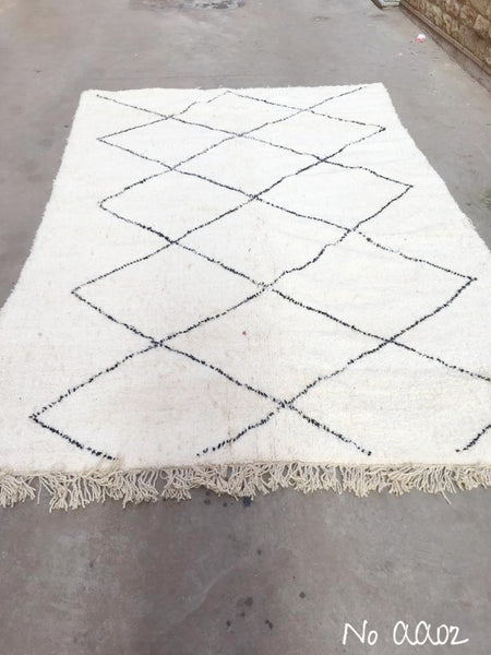 Beni Ourain Carpet - 300x193cm - ALEAH - Natural Wool - AA02
