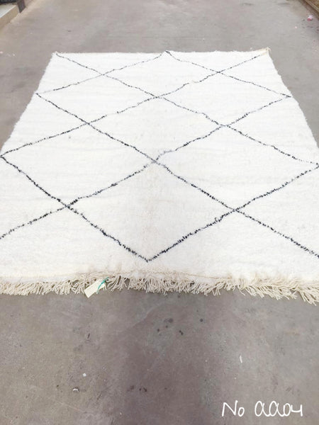 Beni Ourain Carpet - 292x215cm - AYAT- Natural Wool - AA04