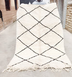Beni Ourain Carpet - 248x154cm - SAFIYA - Natural Wool - BA3 - Carpets - THE PEOPLE OF SAND