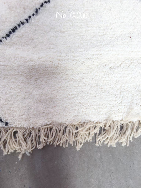 Beni Ourain Carpet - 290x203cm - ZAINAB - Natural Wool - AA10