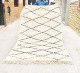 Beni Ourain Carpet - 280x167cm - Adeeba - Natural Wool - X01