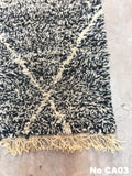 Beni Ourain Carpet -283x80cm (Runner Size) - NOUN - Natural Wool - CA03 - Carpets - THE PEOPLE OF SAND