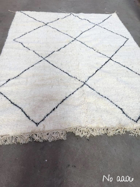 Beni Ourain Carpet - 284x213cm - AYAT - Natural Wool - AA06