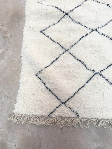 Beni Ourain Carpet - 293x185cm - Nador - Natural Wool - U03