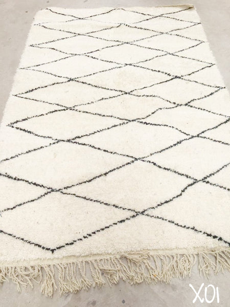 Beni Ourain Carpet - 280x167cm - Adeeba - Natural Wool - X01 - Carpets - THE PEOPLE OF SAND