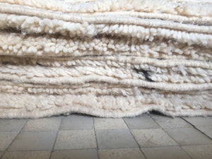 Beni Ourain Carpet - 320x213cm - ASMAA- Natural Wool - AA03 - Carpets - THE PEOPLE OF SAND