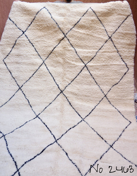 Carpets - Beni Ourain Carpet - 323x206cm - Large Triangles - Ayoub - Natural Wool - 2463