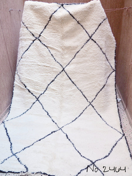Carpets - Beni Ourain Carpet - 327x199cm - Large Triangles - Azzam - Natural Wool - 2464