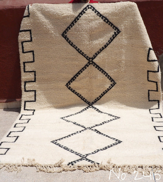 Carpets - Beni Ourain Tribal Carpet - 300 X 200 Cm - Nahed - Natural Wool - 2415