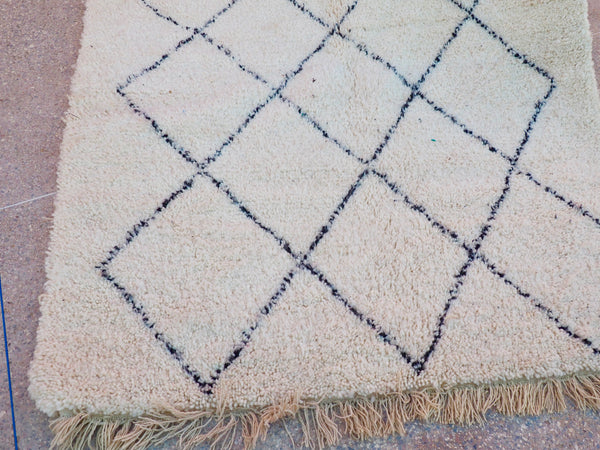 Beni Ourain Carpet - 240x160cm - Massa - Natural Wool - 2474