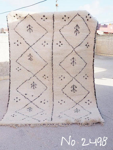 Beni Ourain Carpet - 250x170cm - Tribal - DALILA - Natural Wool - 2498