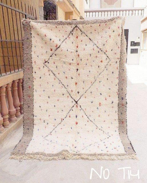 Beni Ourain Carpet -240x162cm - SPECIAL TRIBAL - NAYLA - Natural Wool - T14