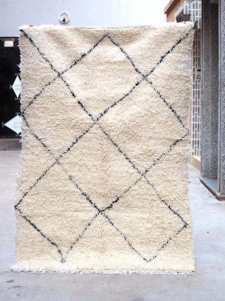 Beni Ourain Carpet - 199x133cm - GZOULA - Natural Wool - FF8