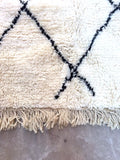 Beni Ourain Carpet - 193x132cm 3-Seat Sofa - CHEMAIA - Natural Wool - FF5 - Carpets - THE PEOPLE OF SAND