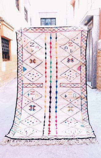 Azilal Carpet - 260x143cm 3-Seat Sofa - ABBAS - Natural Wool - AZ23 - Carpets - THE PEOPLE OF SAND