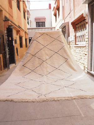 Load image into Gallery viewer, Beni Ourain Carpet - 4x3m - Zanzibar - Natural Wool - KA02