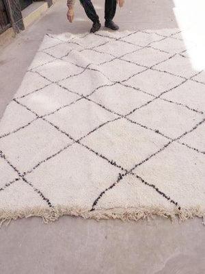 Beni Ourain Carpet - 297x200cm - Diamonds - NAJA - Natural Wool - M164 - Carpets - THE PEOPLE OF SAND