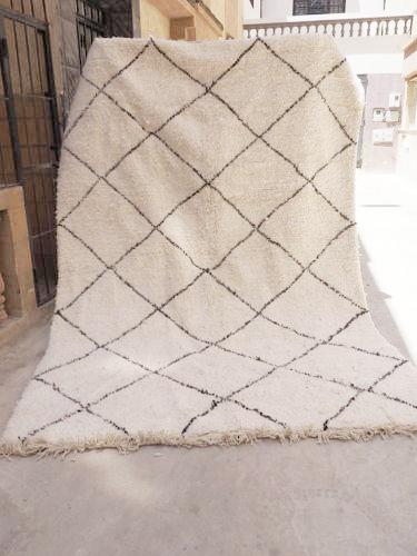 Beni Ourain Carpet - 297x200cm - Diamonds - NAJA - Natural Wool - M164